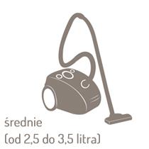 Odkurzacze średnie (od 2,5 do 3,5 litra)